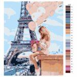 Malování podle čísel Dívka s balónky
