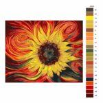 Malování podle čísel Žluto rudá slunečnice