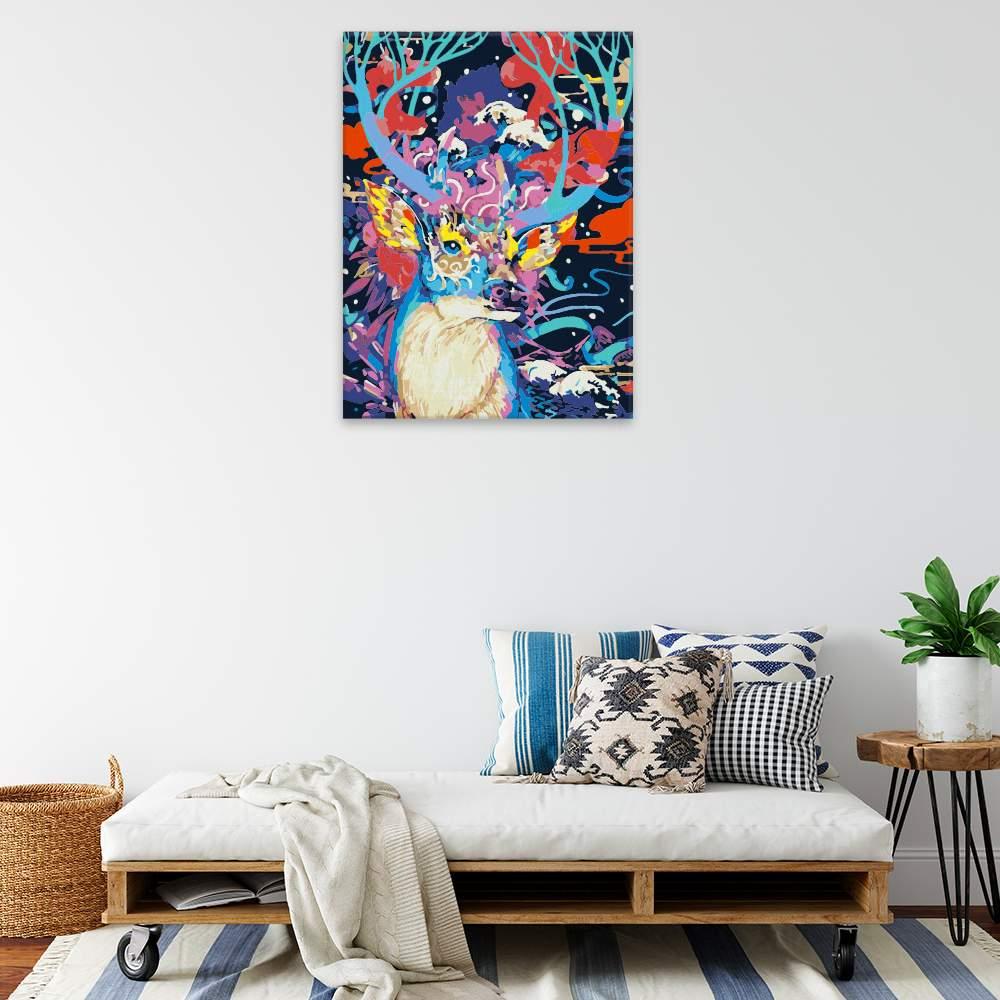 Obraz na zdi Jelen v barvách