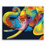 Malování podle čísel Sloní