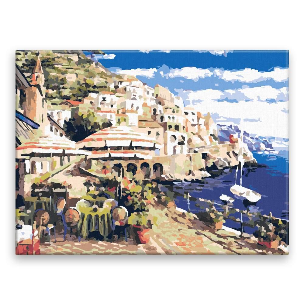 Malování podle čísel Přímořská restaurace