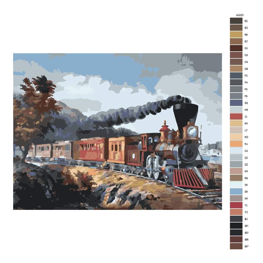 Návod pro malování podle čísel Americký expres