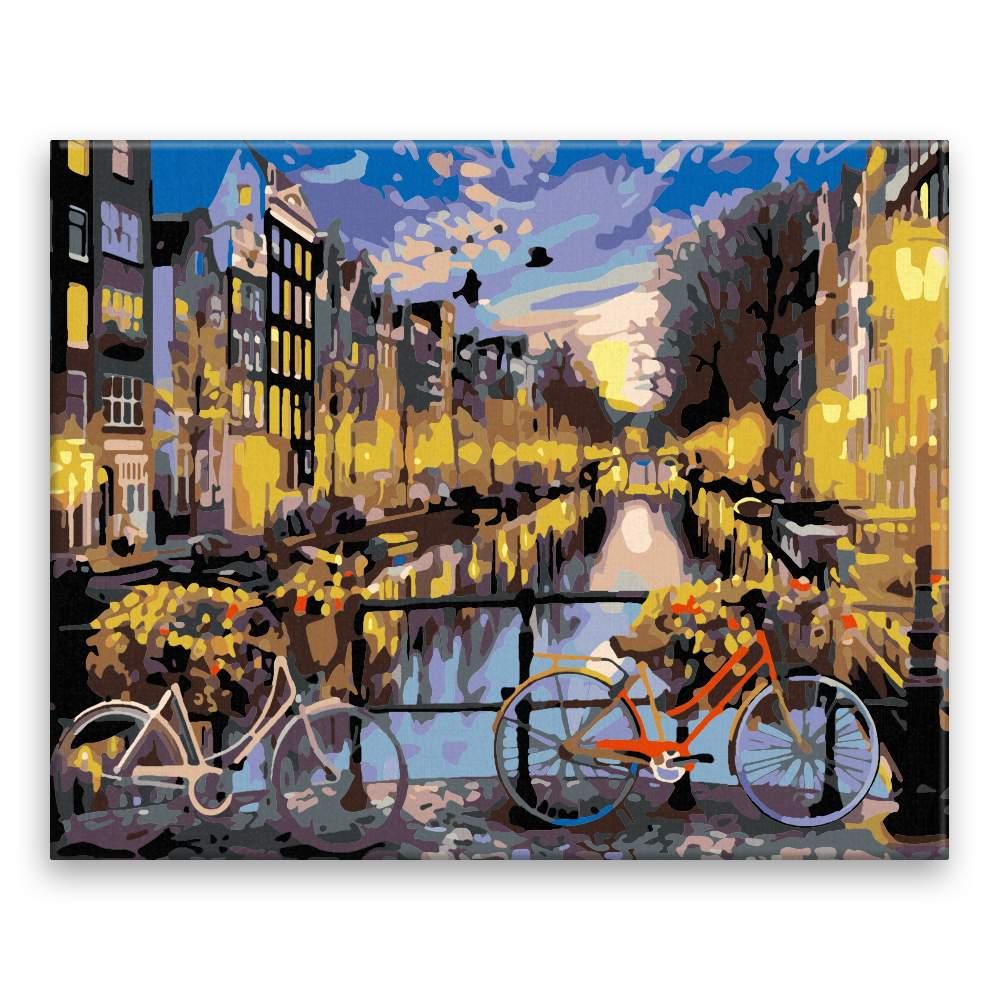 Malování podle čísel Kola v Amsterdamu