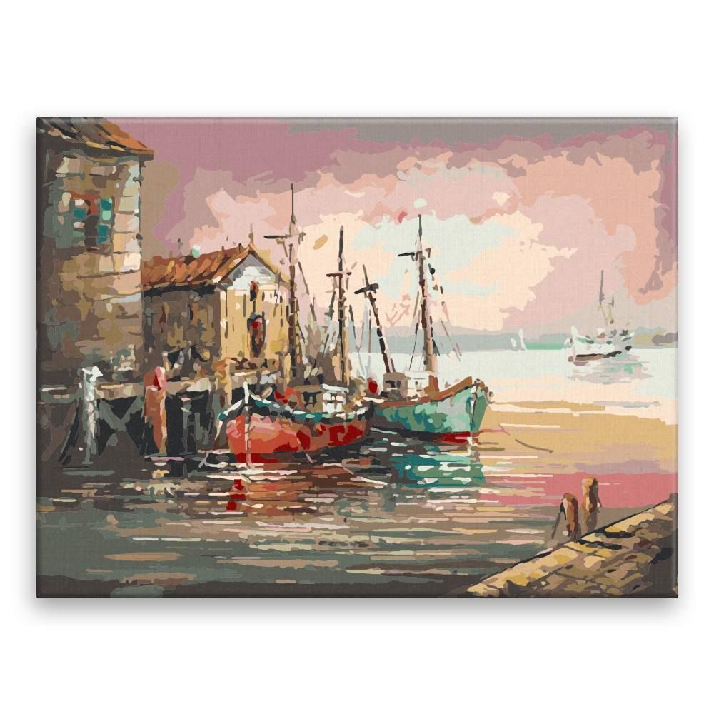 Malování podle čísel Starý přístav