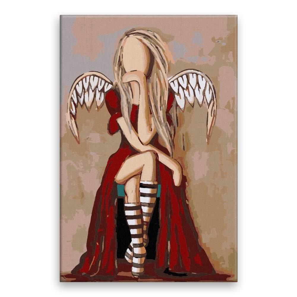 Malování podle čísel Anděl s ďáblem v těle