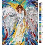 Malování podle čísel Anděl v barvách