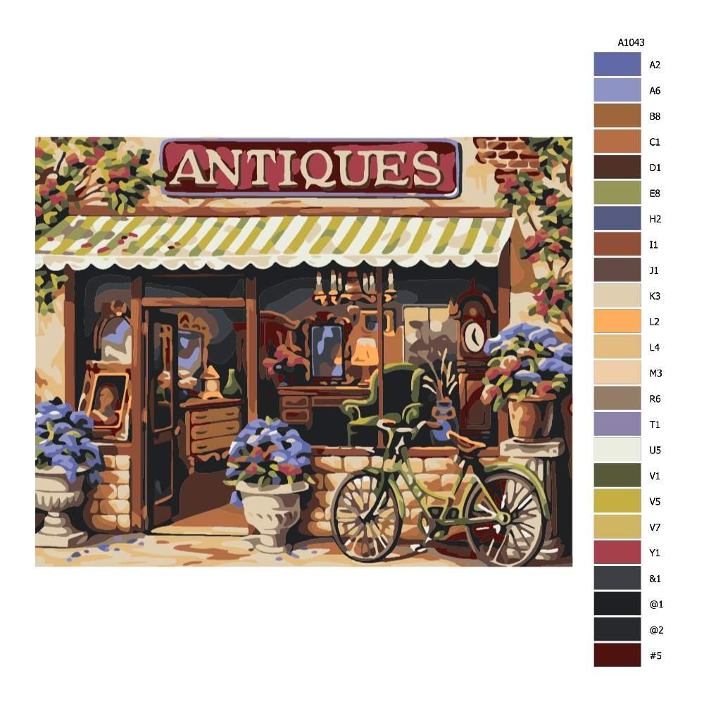 Návod pro malování podle čísel Antiquariát