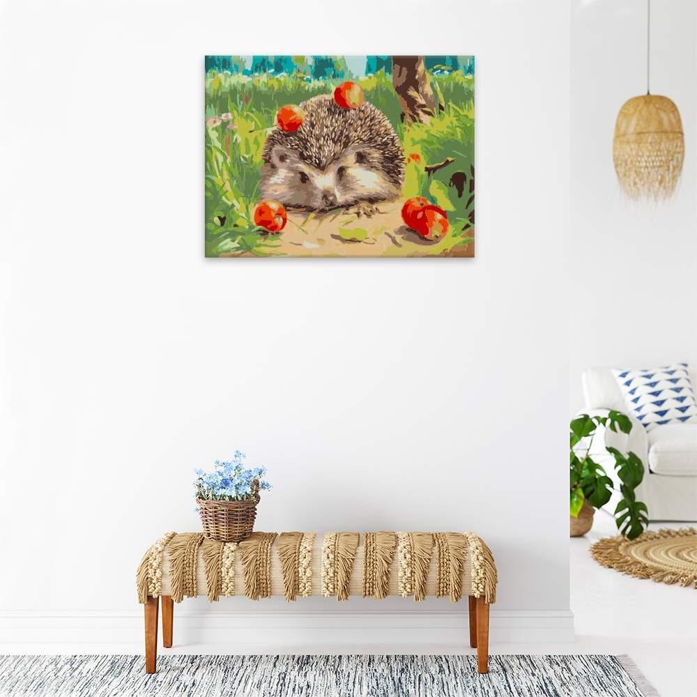 Obraz na zdi Ježek s jablky