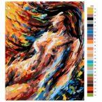 Malování podle čísel Žena akt