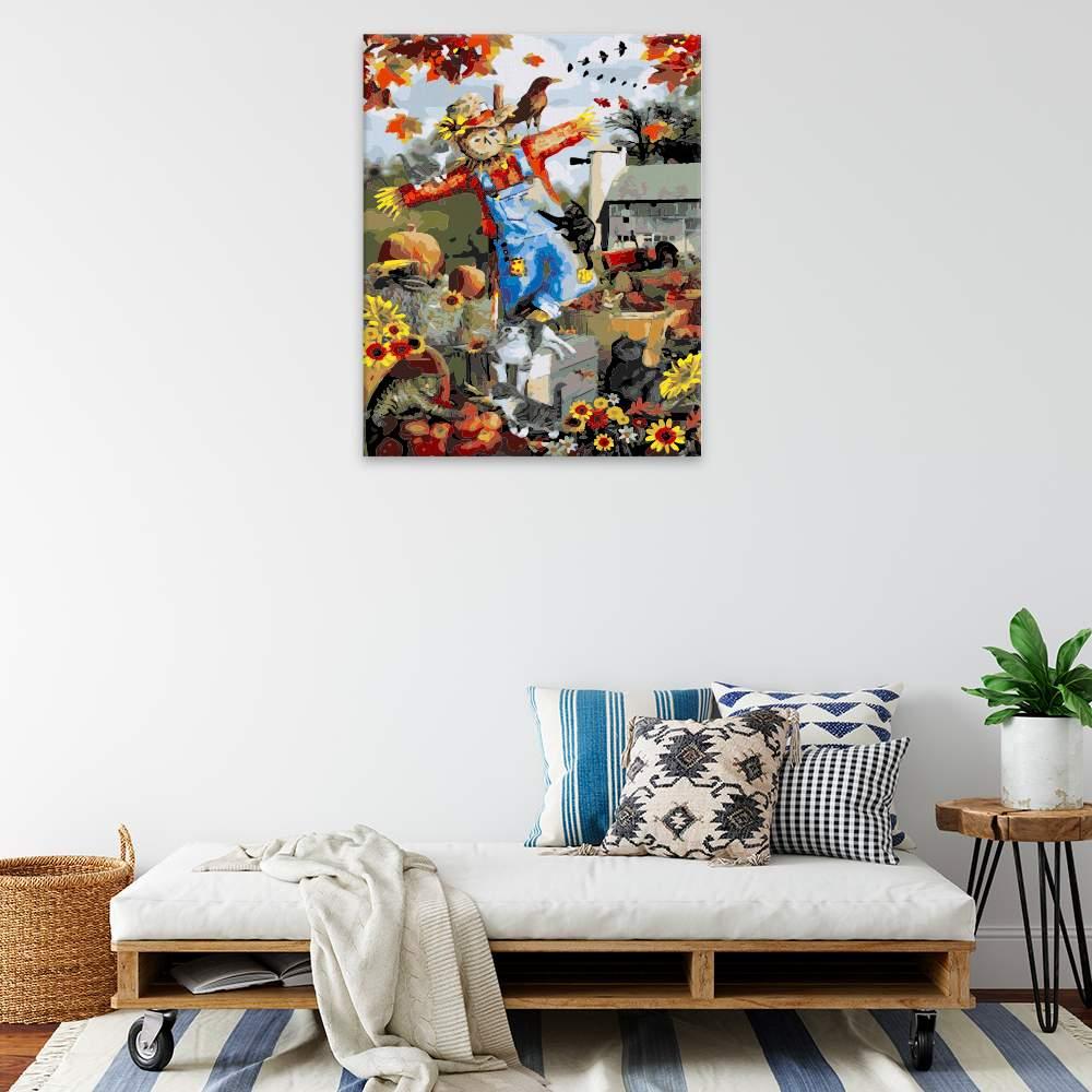 Obraz na zdi Podzimní strašák