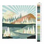 Malování podle čísel Podzimní slunce