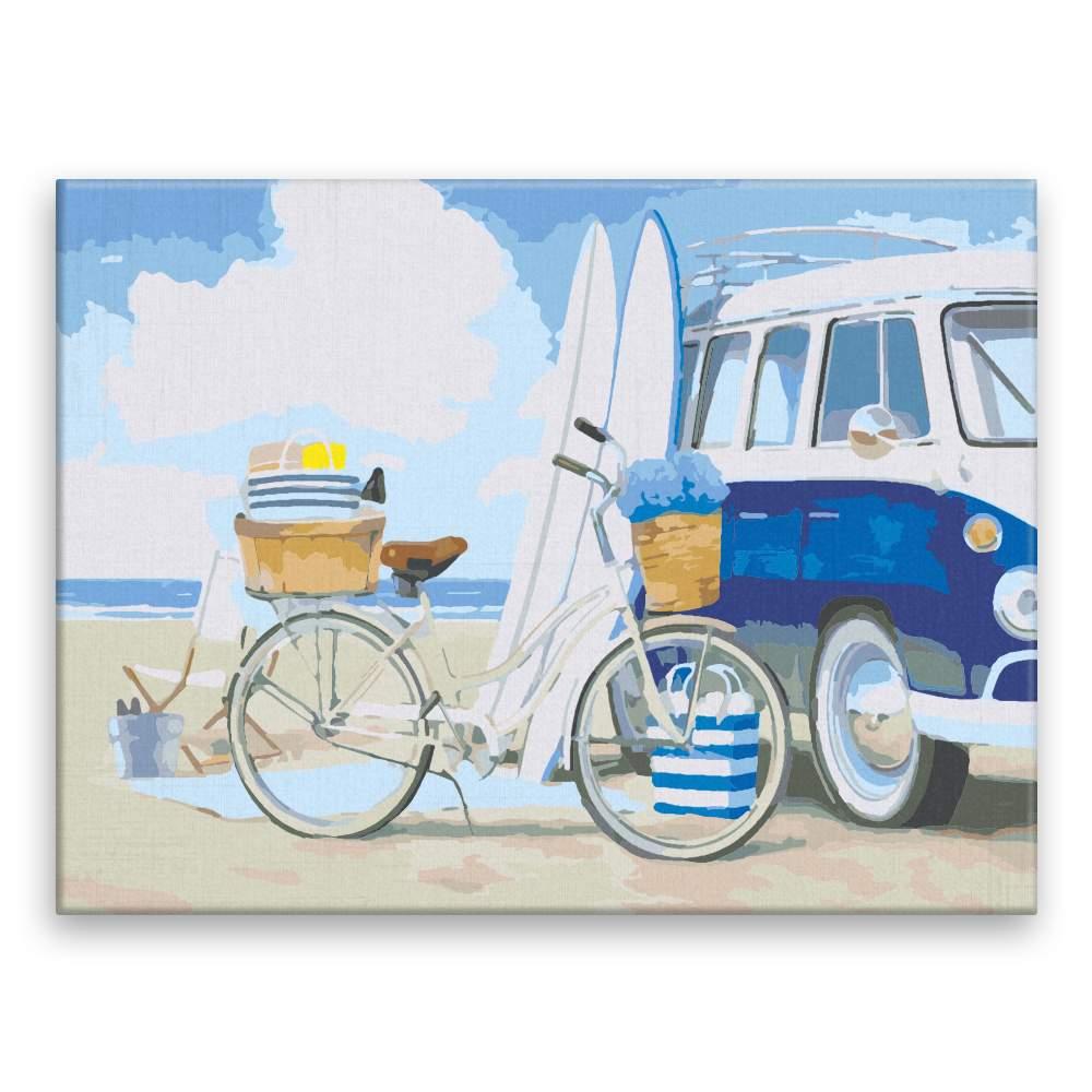 Malování podle čísel Plážová zábava