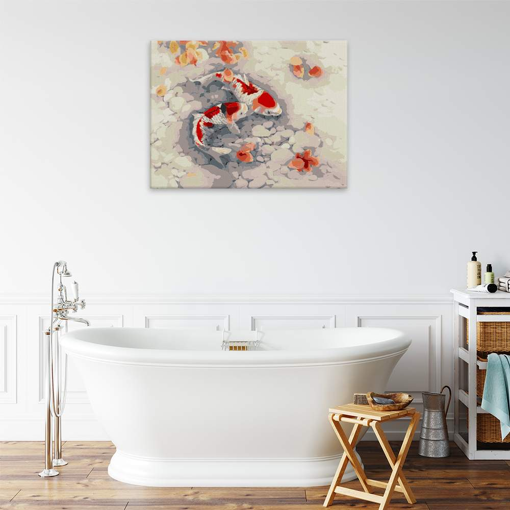 Malování podle čísel Ryby v jezírku