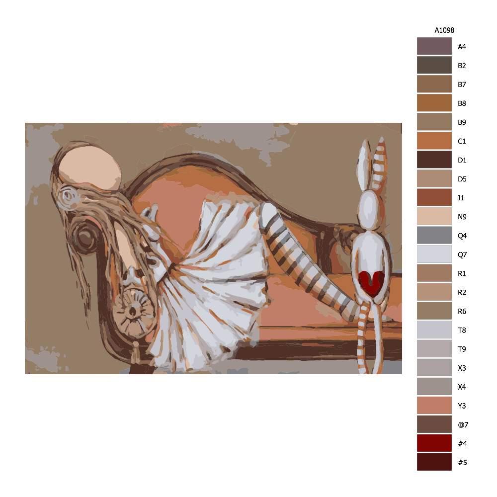Malování podle čísel Dívka na otomanu