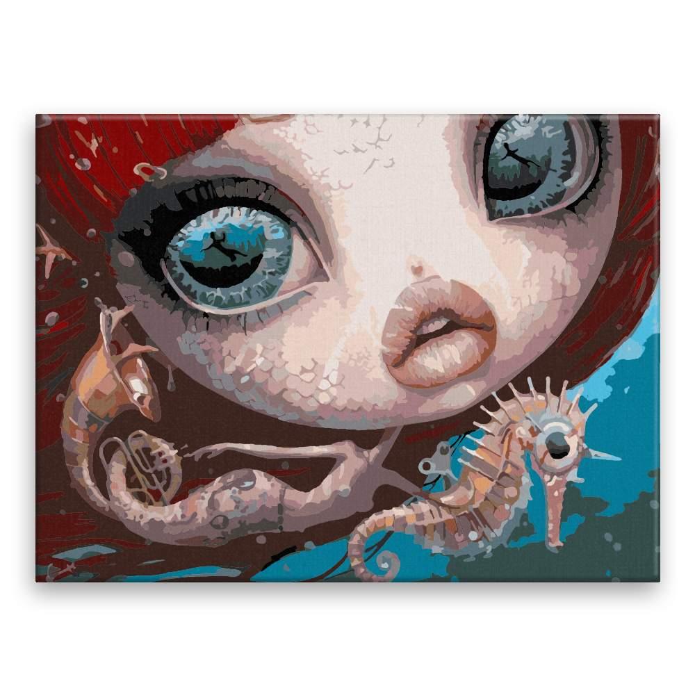 Malování podle čísel Hlava mořské panny