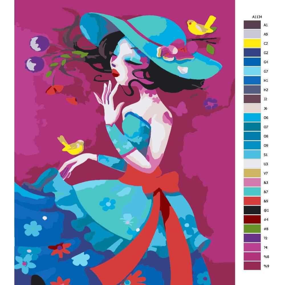 Malování podle čísel Barevná krása