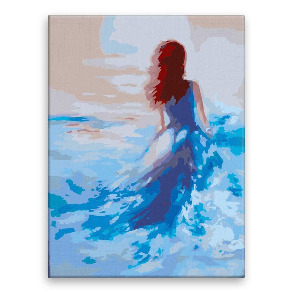 Malování podle čísel Žena ve vlnách