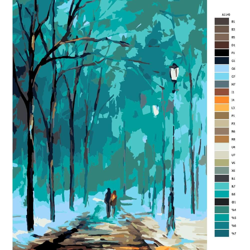 Malování podle čísel Procházka ve