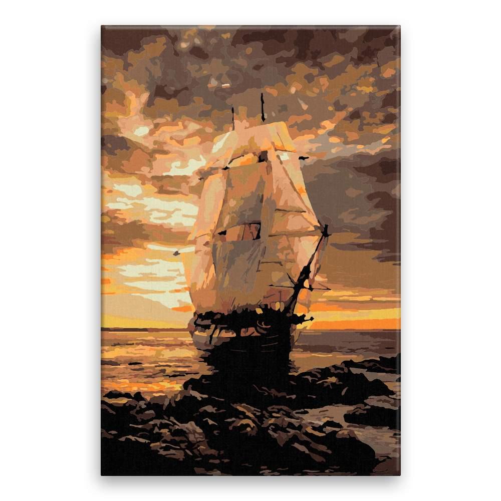 Malování podle čísel Námořní loď