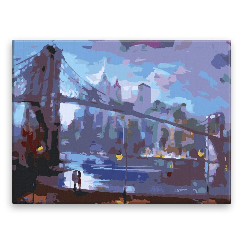 Malování podle čísel Most lásky