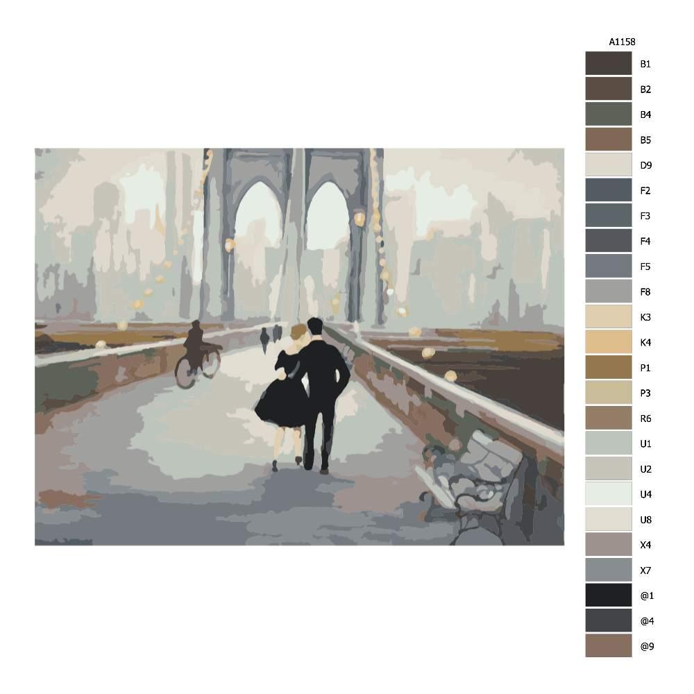 Návod pro malování podle čísel Most v New Yorku