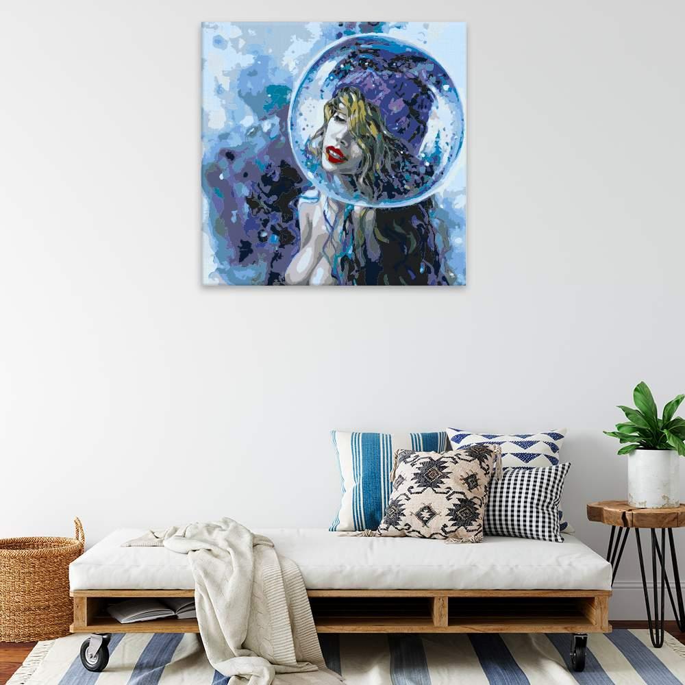Malování podle čísel Žena v bublině
