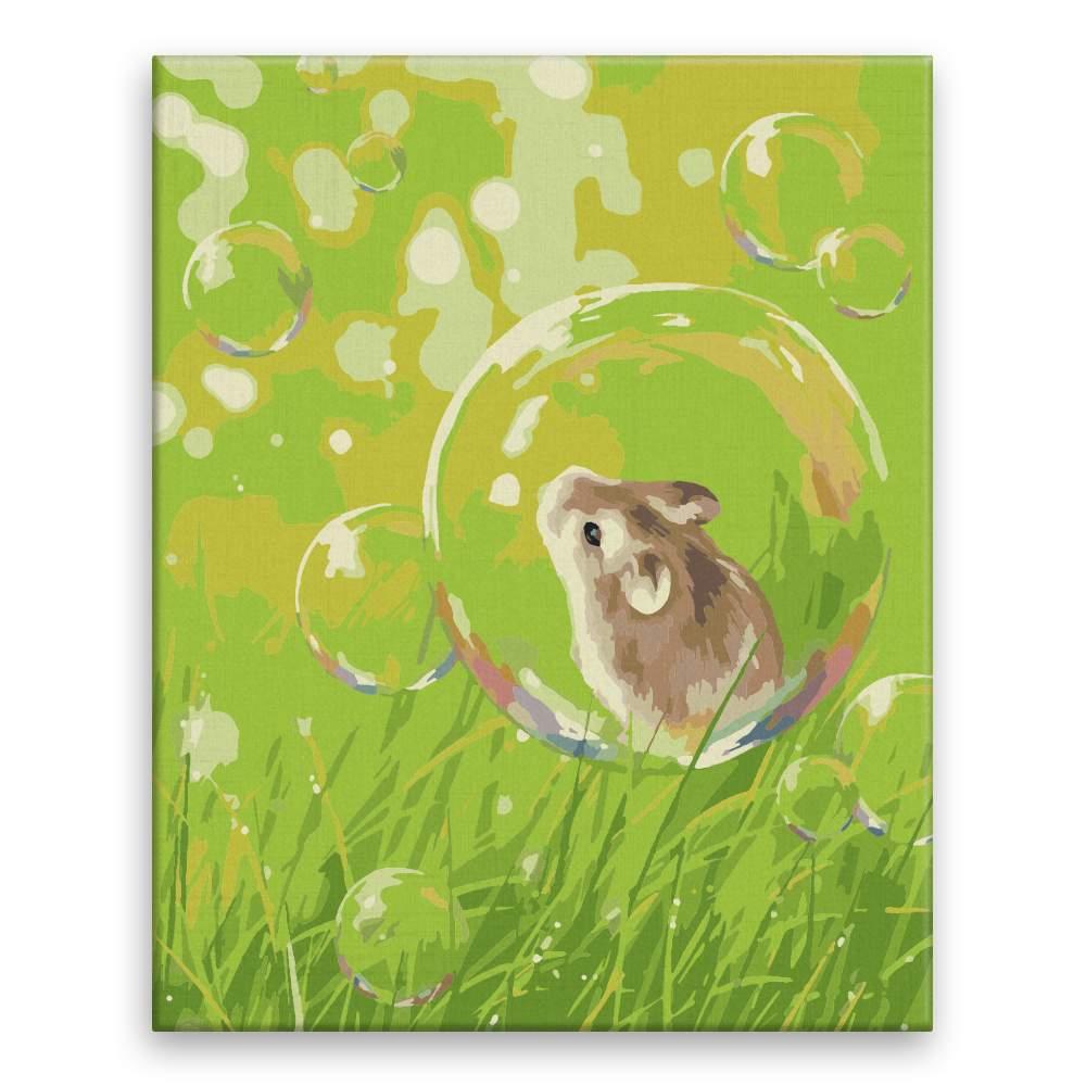 Malování podle čísel Myška v bublině