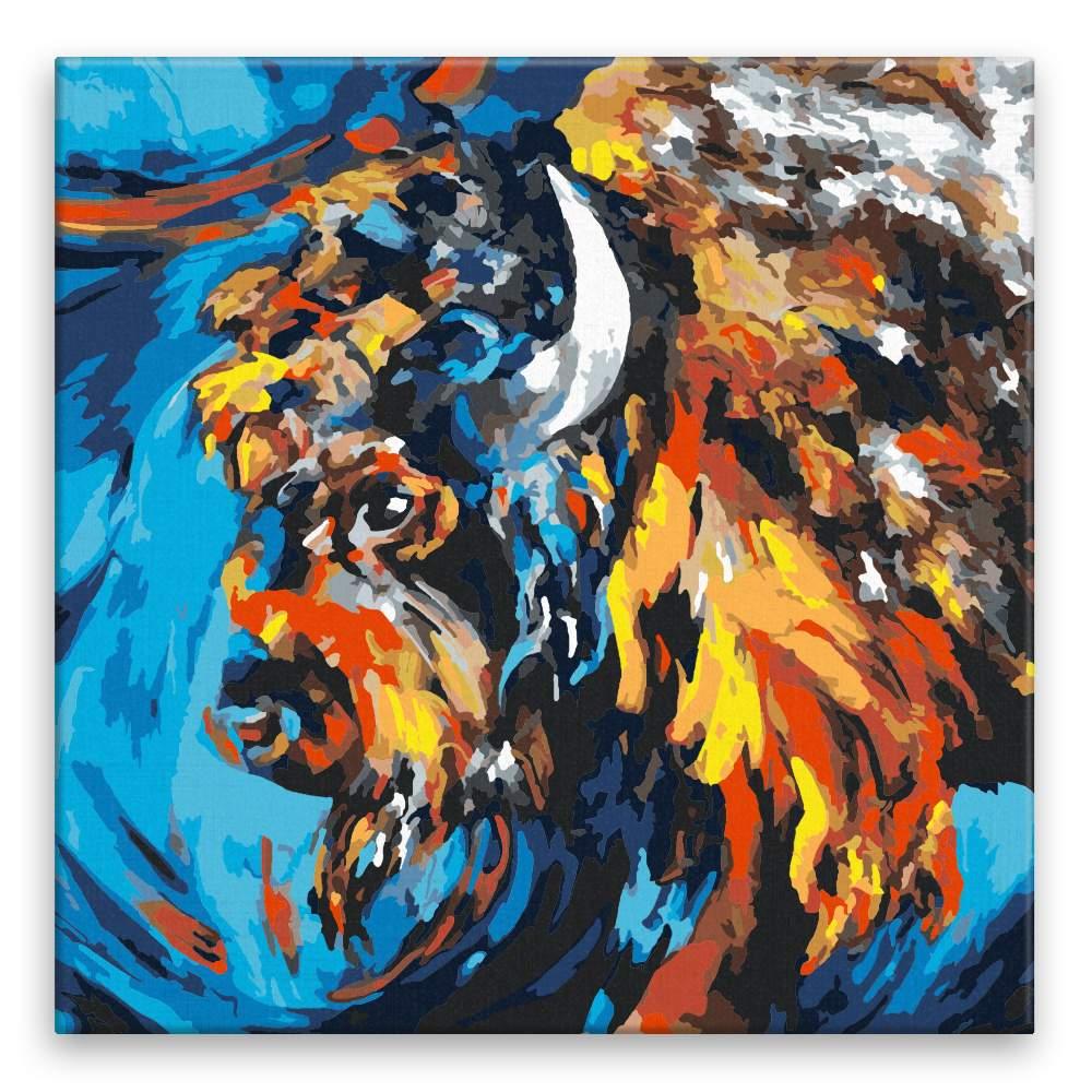 Malování podle čísel Naštvaný bizon
