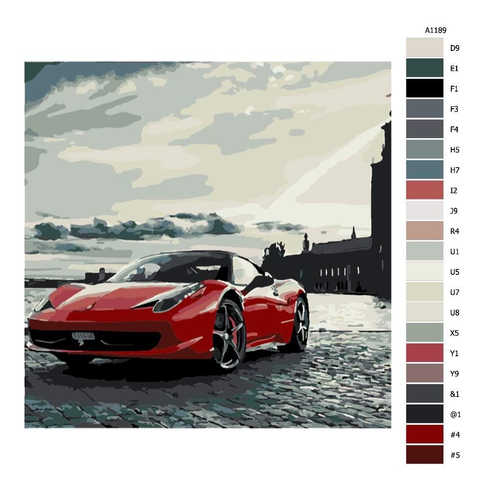 Návod pro malování podle čísel Porsche