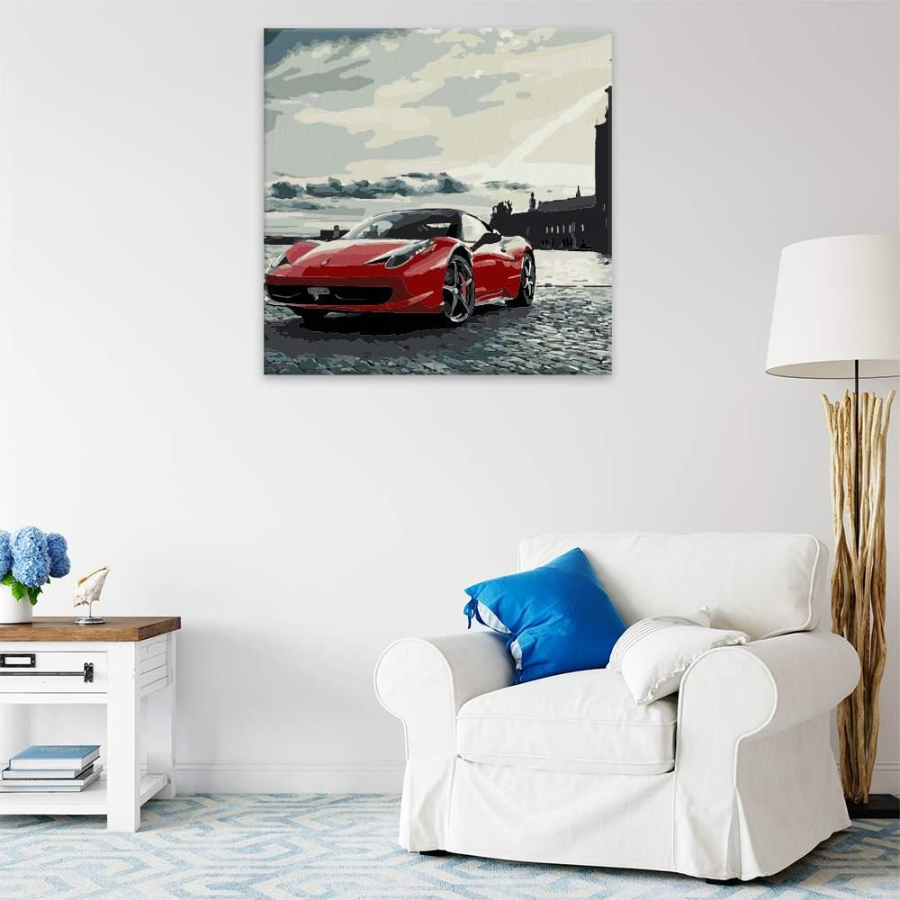 Malování podle čísel Porsche