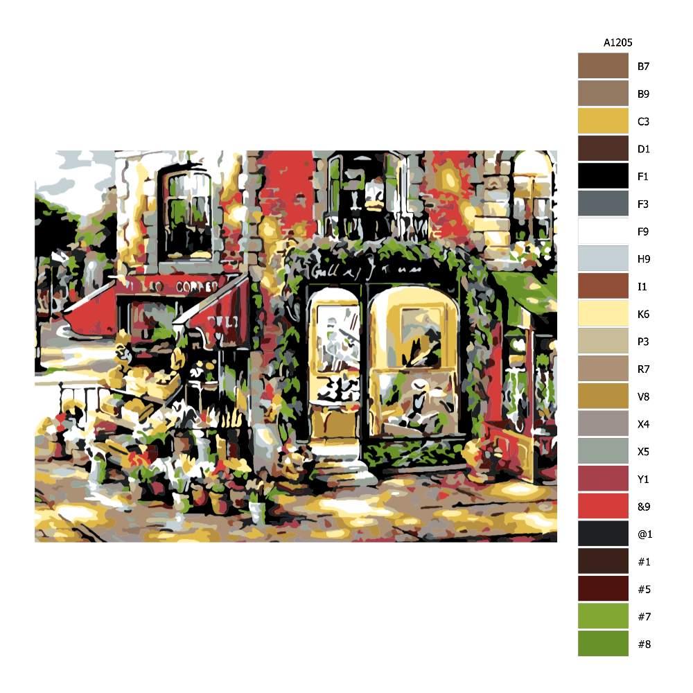 Malování podle čísel Městský obchůdek