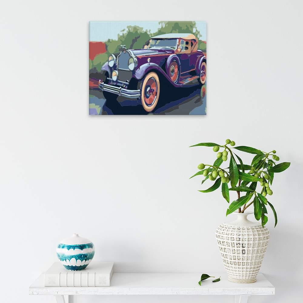 Malování podle čísel Historické auto