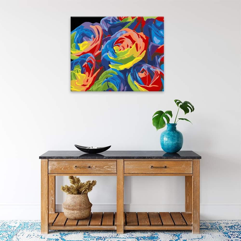 Malování podle čísel Květy v barvách