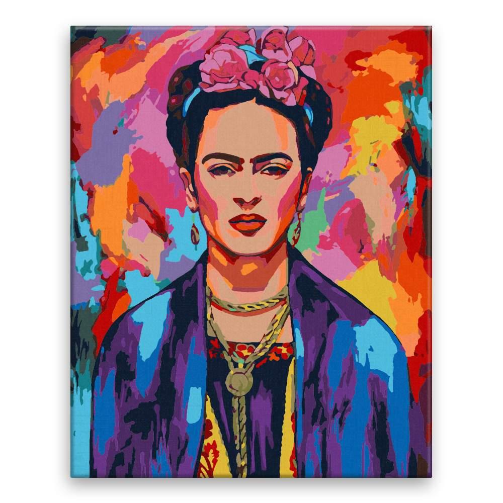 Malování podle čísel Frida v barvách