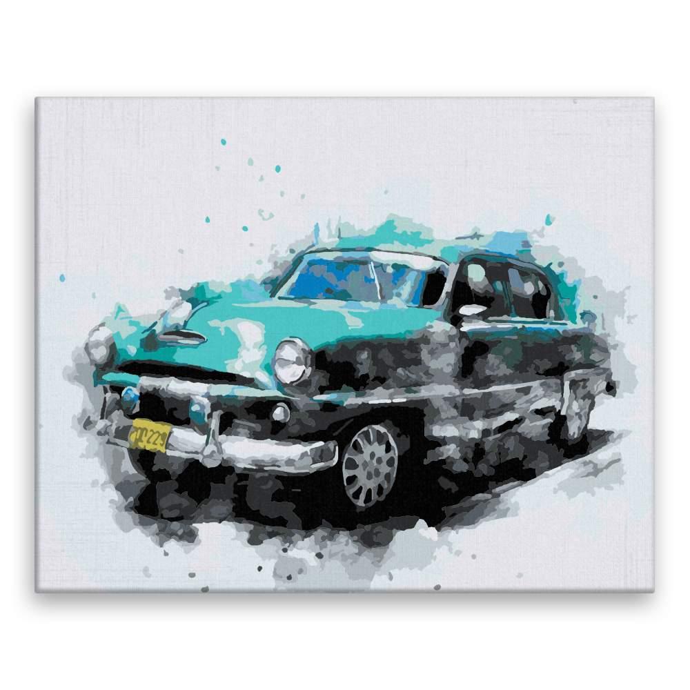 Malování podle čísel Rozmazané auto