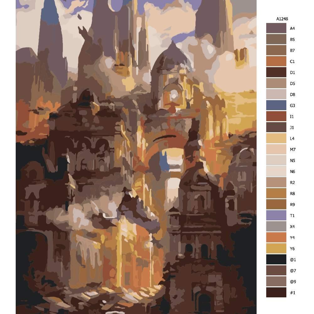 Malování podle čísel Tajemné město budoucnost