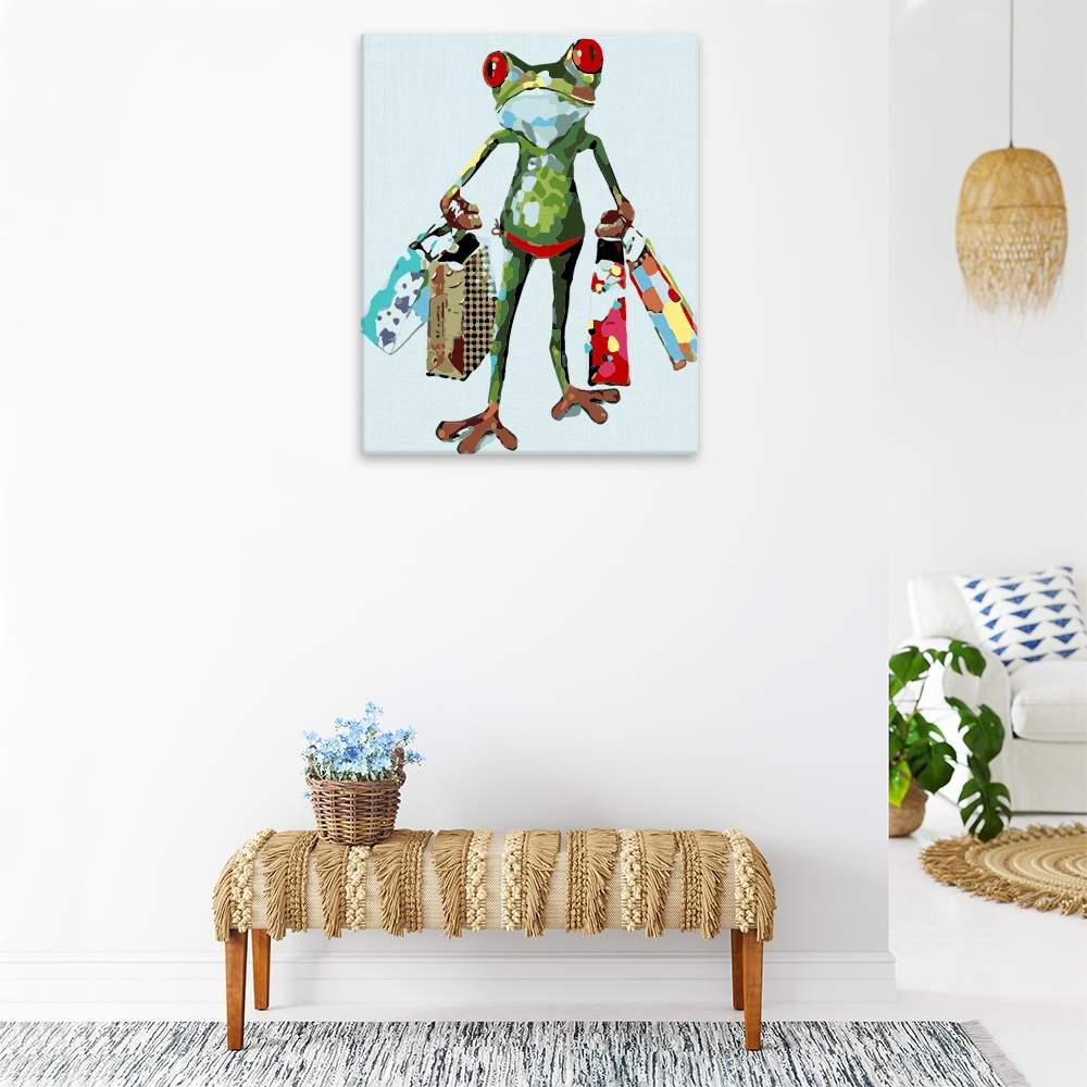 Malování podle čísel Šílená žába