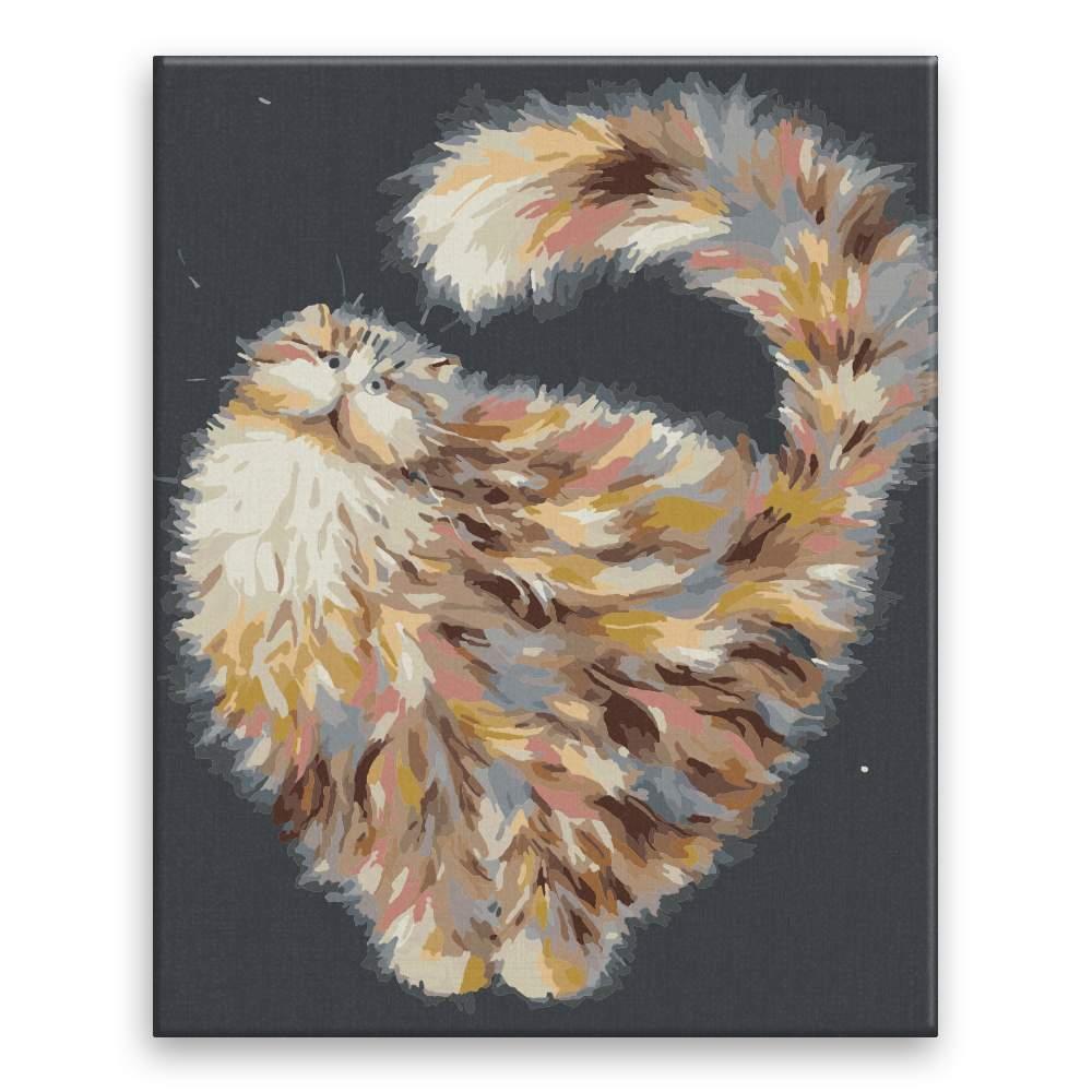 Malování podle čísel Kočka ve vesmíru