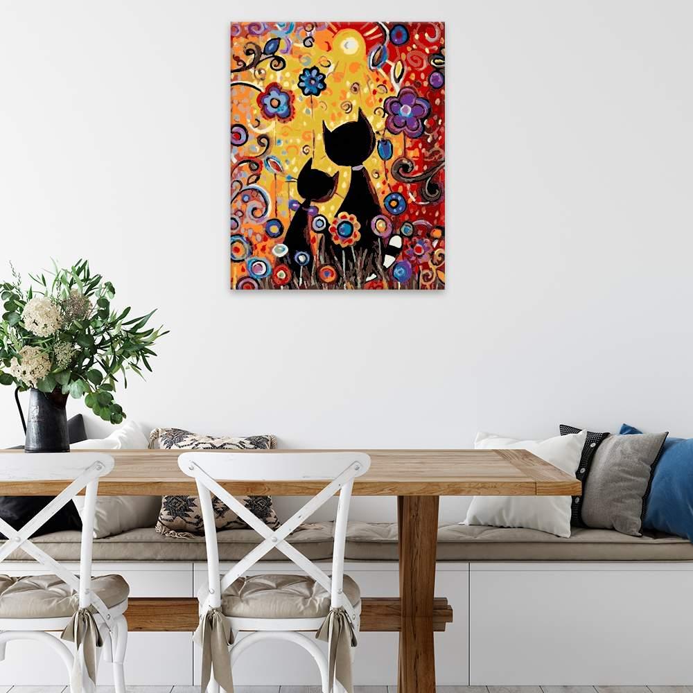 Malování podle čísel Kočičí pohádka