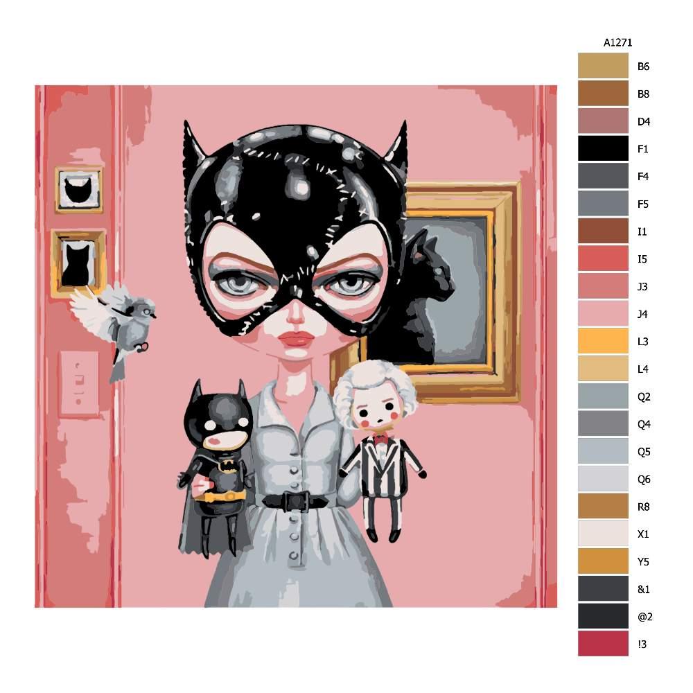Malování podle čísel Kočičí žena