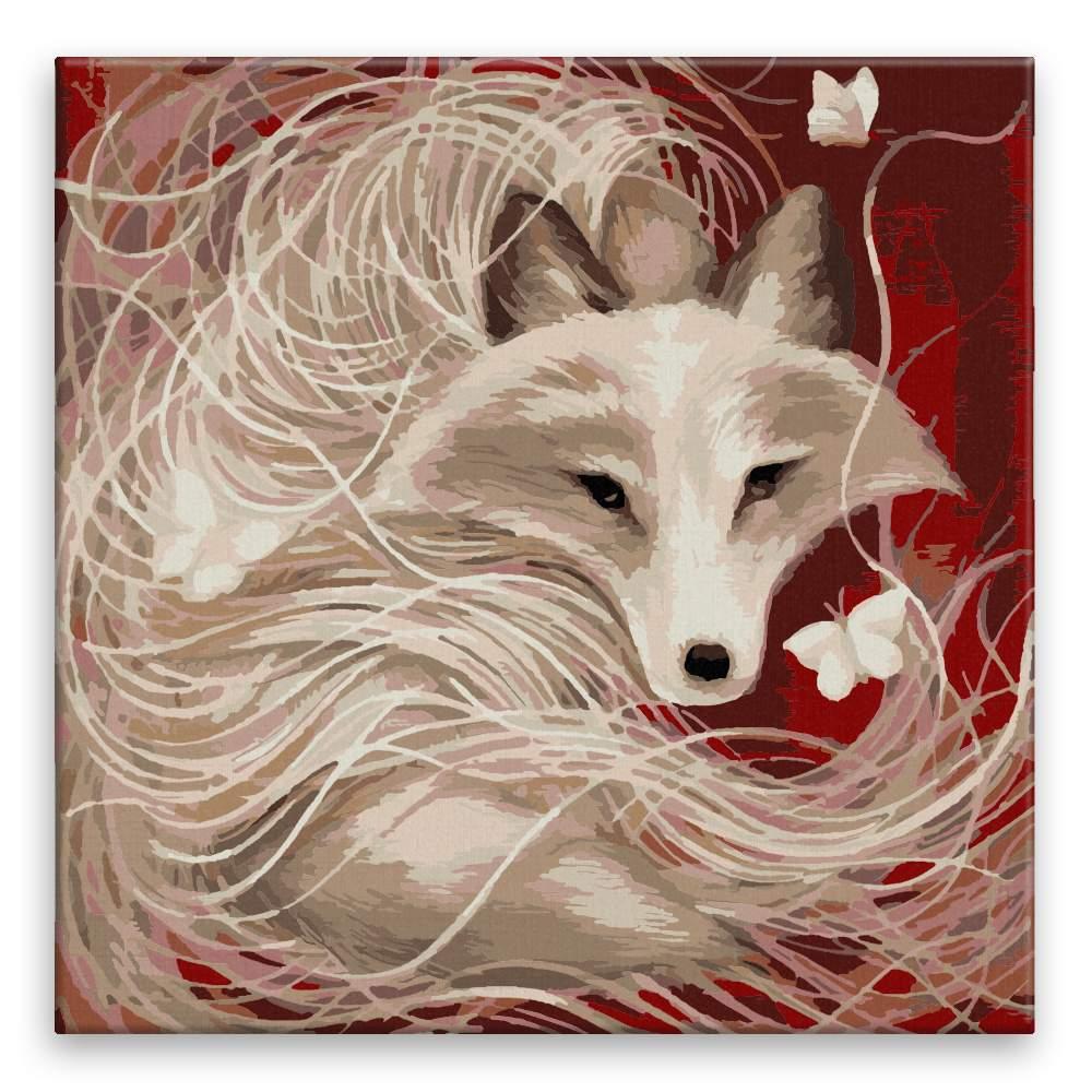 Malování podle čísel Lstivá liška