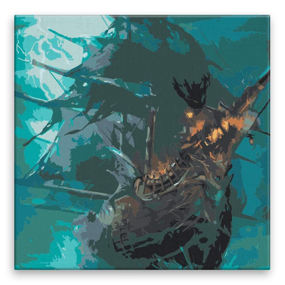 Malování podle čísel Loď ďábla