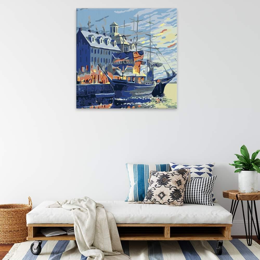 Malování podle čísel Loď v přístavu