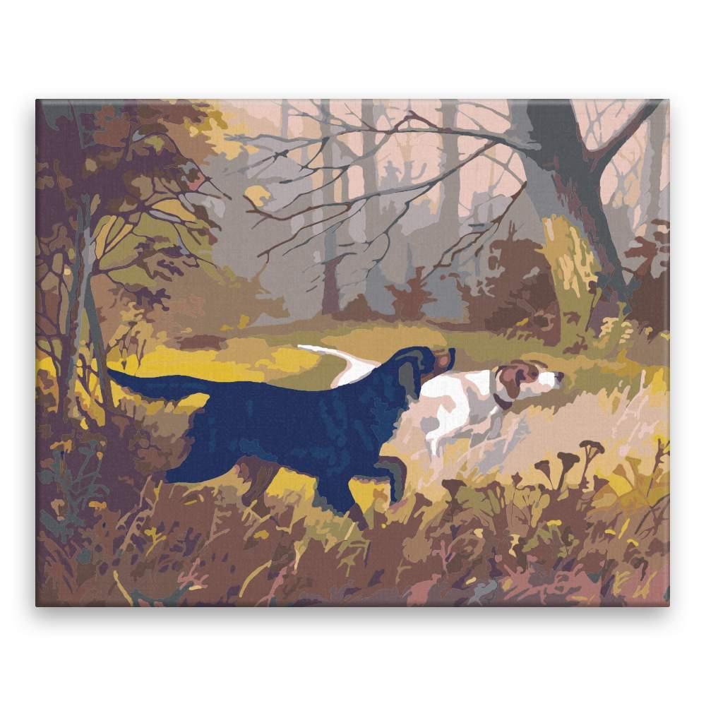 Malování podle čísel Lovečtí psi