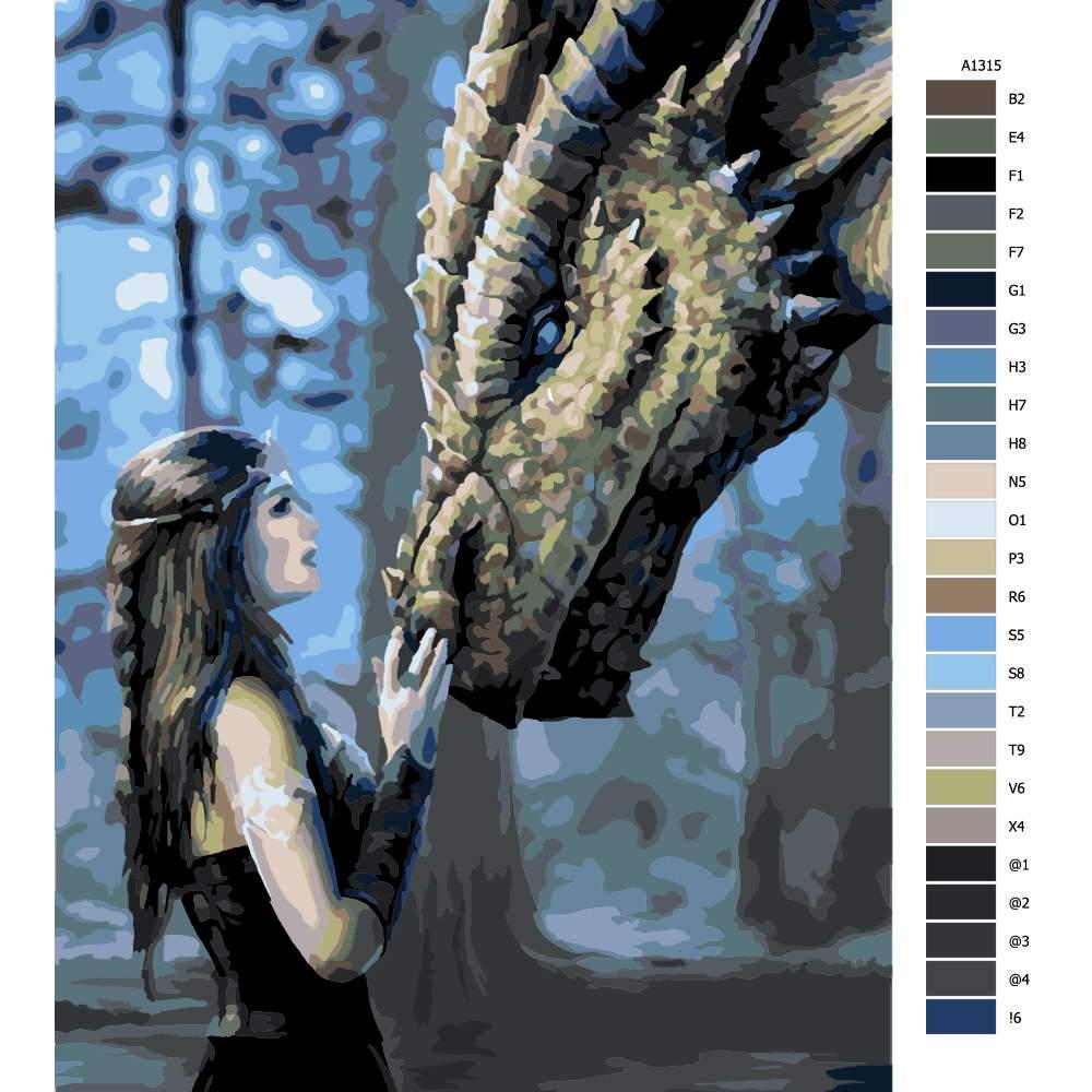 Malování podle čísel Dračí žena