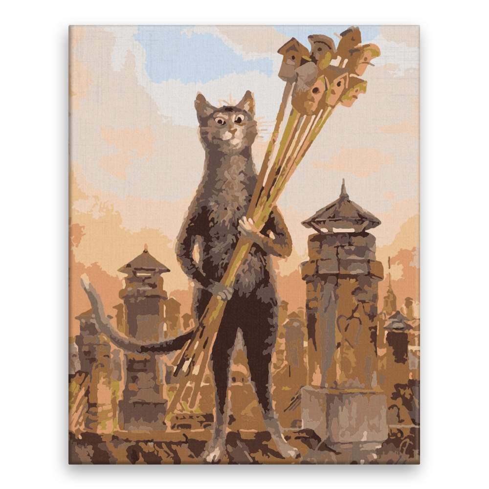 Malování podle čísel Nejistá kočka