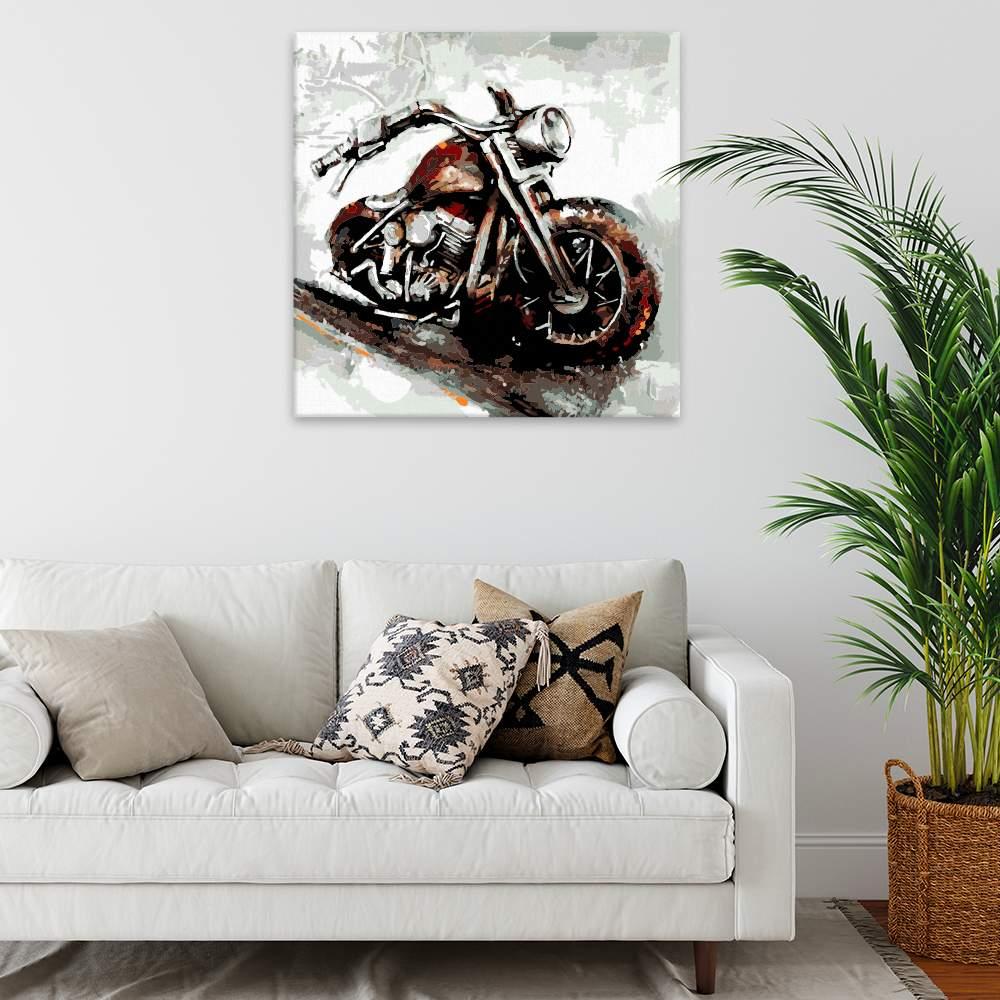 Malování podle čísel Motorka