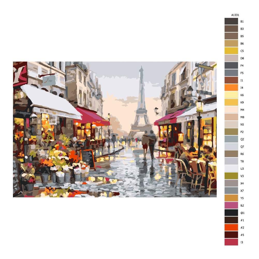 Malování podle čísel Procházka pařížskou