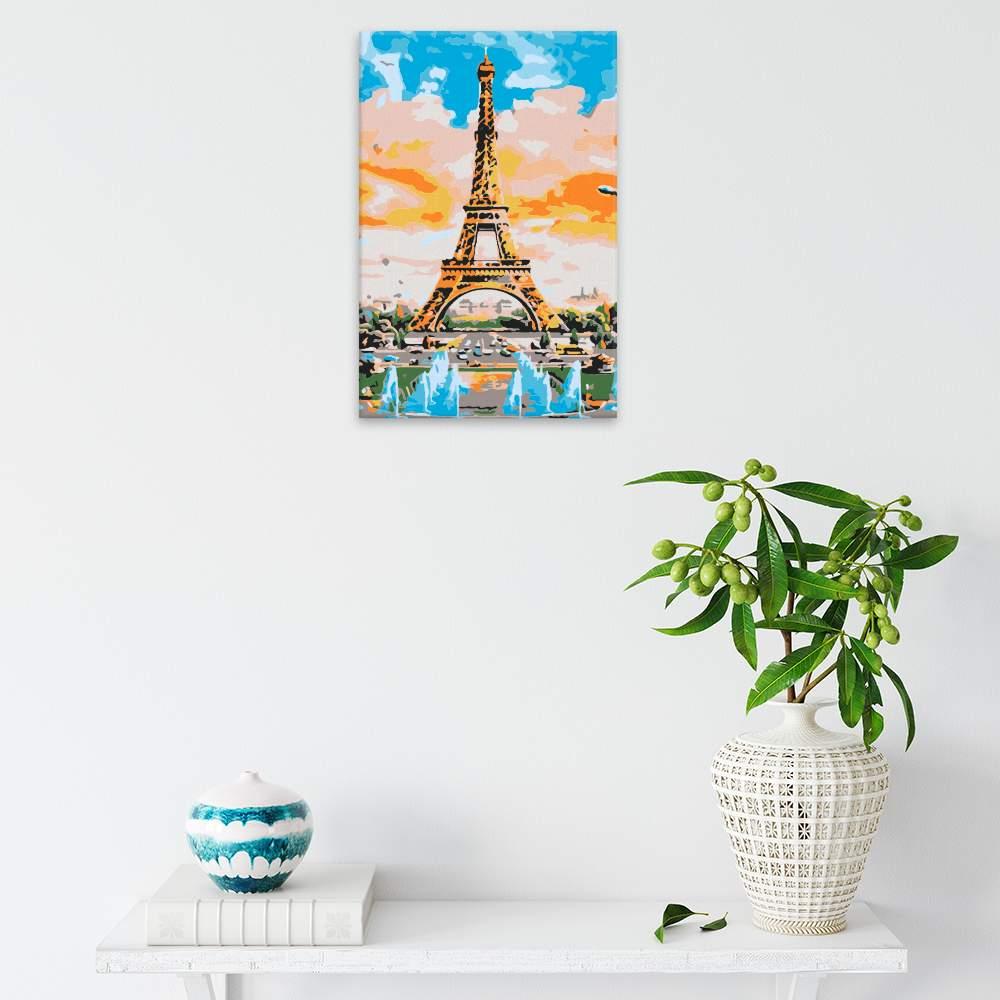 Malování podle čísel Eiffel Tower malba
