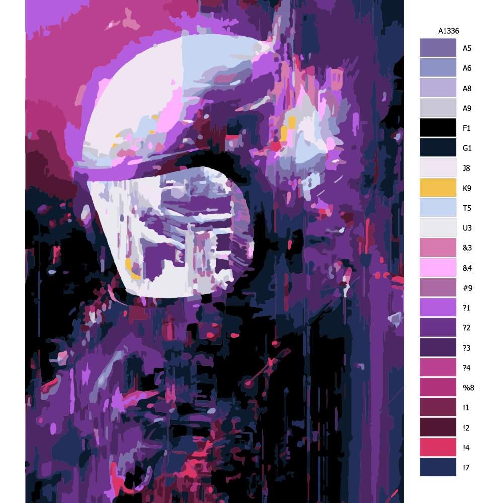 Návod pro malování podle čísel Pohled do budoucnosti